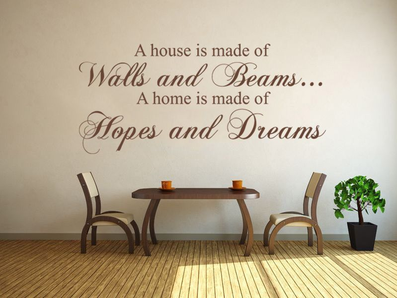 a house is made of walls and beams wall art sticker decal